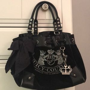 Black juicy couture tote bag